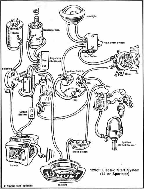 lowbrow customs motorcycle wiring diagram boyer electronic ignition