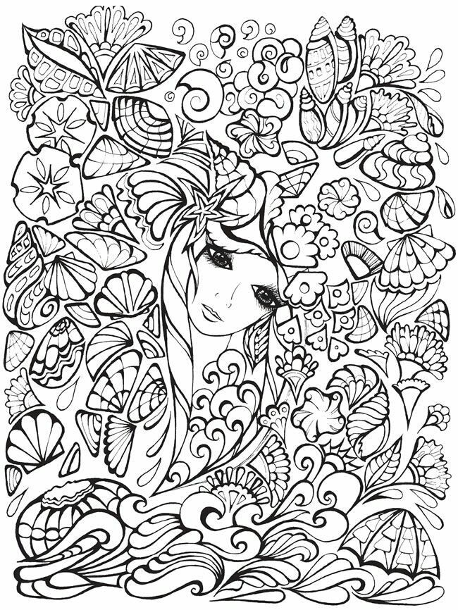 Flowers Fairy Adult Coloring Pages Pinterest Flower