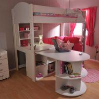girls loft bed with desk   Stompa Casa 4 High Sleeper Bunk ...
