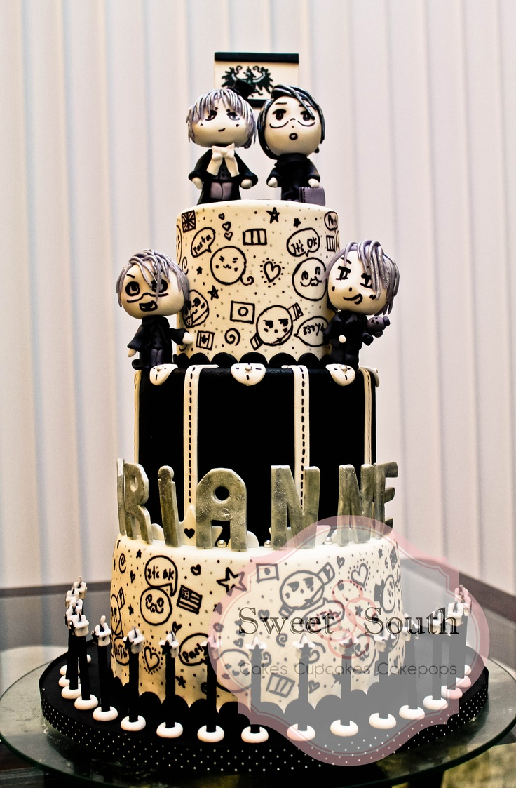 Anime Cake Anime Cakes Ideas Pinterest Anime Cake
