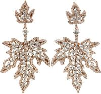 INBAR Diamond Maple Leaf Earrings