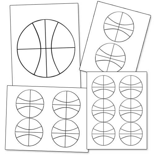 Printable Basketball Shape from PrintableTreats.com