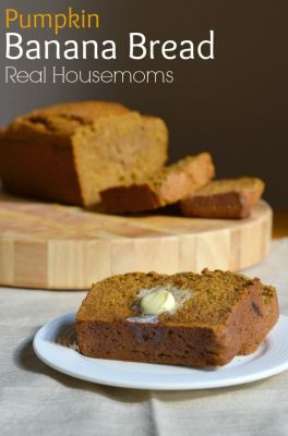Pumpkin Banana Bread | Real Housemoms | This bread combines two of my favorite fall treats!: