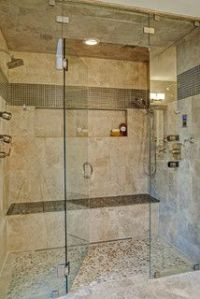 Two person shower w/bench | Bathroom remodel ideas ...