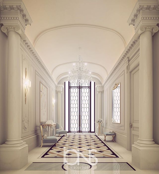 Our latest Entrance lobby design • Qatar | Luxury Entrance Lobby Designs- By IONS DESIGN ...