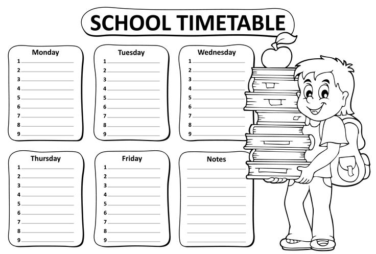 25+ best ideas about School timetable on Pinterest