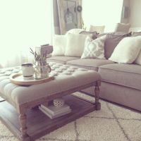 25+ best ideas about Tufted Ottoman Coffee Table on