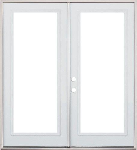 6/0 Full Lite Fiberglass Patio Prehung Double Door