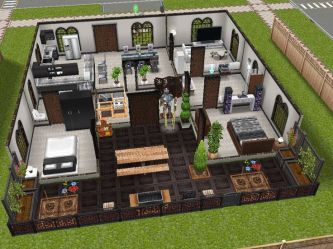 sims freeplay houses play modern idea plans designs homes layouts floor exterior dream cool inspired doors sliding rustic kitchen level