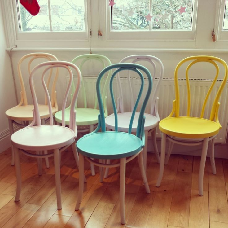 restaurant table and chairs modern dinning painted thonet chairs. pastel. #pastel #thonet #painted   furniture pinterest ...