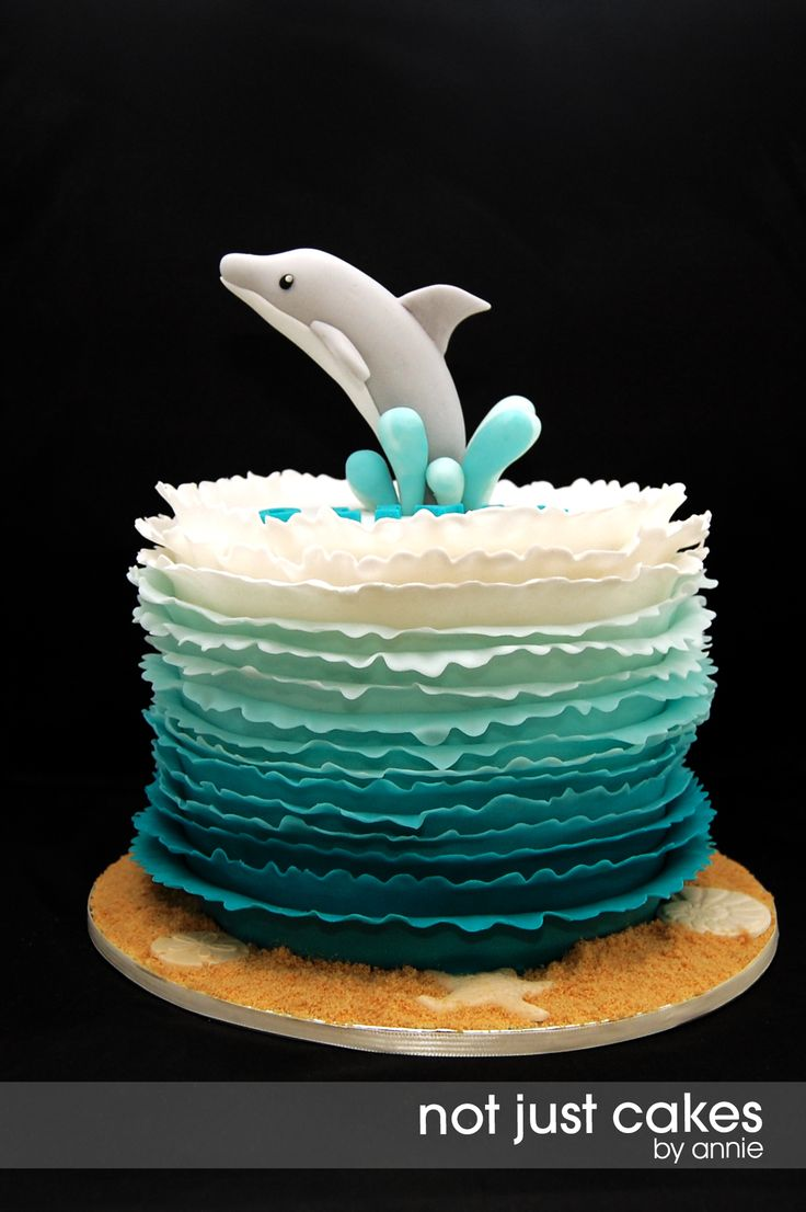 Dolphin Birthday Cake  Not Just Cakes by Annie Cakes and