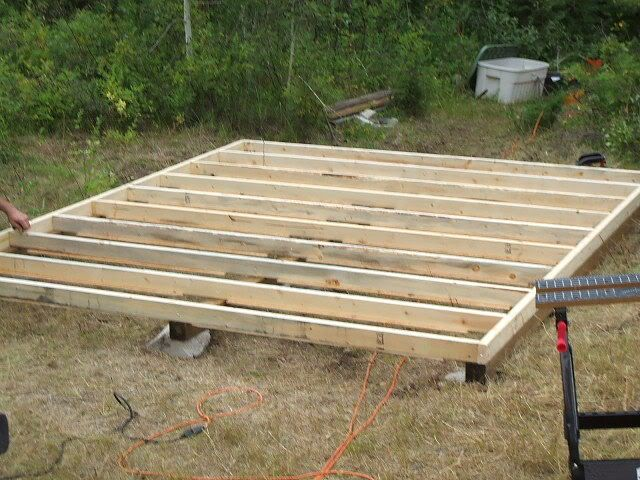 Small Cabin Floor Joist We Filled In The Bottom So We
