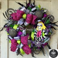Halloween wreath beetlejuice wreath deco mesh wreath fall ...
