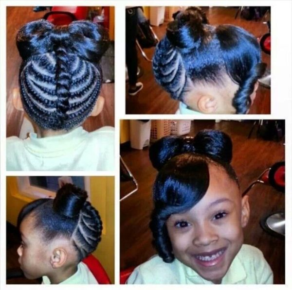 30 Braided Bun Hairstyles For Black Girls Ages 9 12