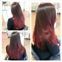 Red ombre hair color by Stephanie Strowbridge | Hair ...