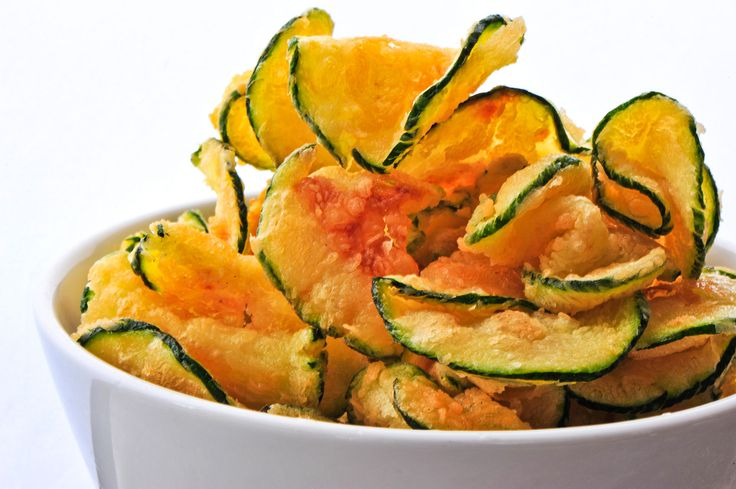Cut a zucchini into thin slices and toss in 1 Tbsp olive oil, sea salt, and pepper. Sprinkle with paprika and bake at 450 degrees