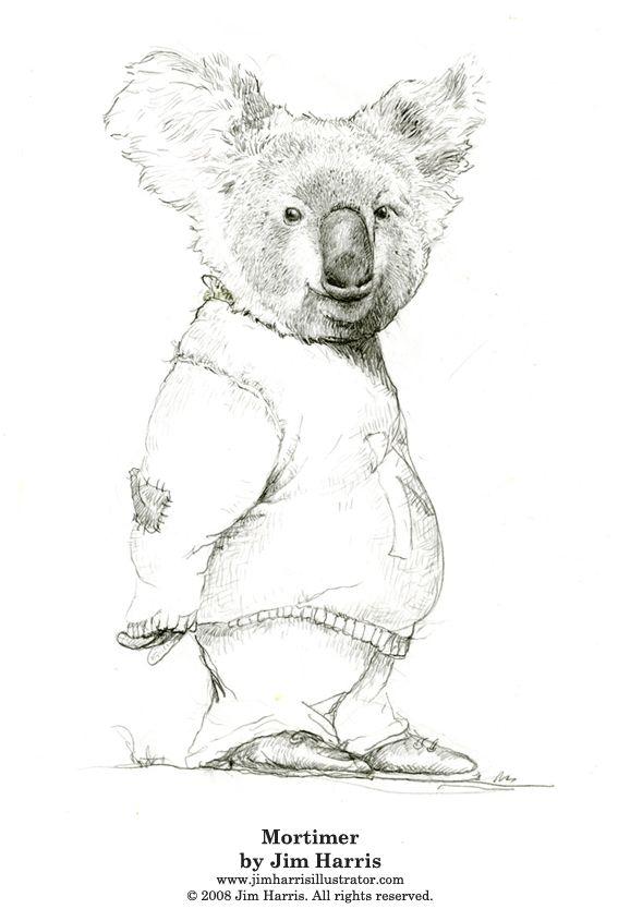 Koala Bear Coloring Pages: Mortimer the Koala Bear