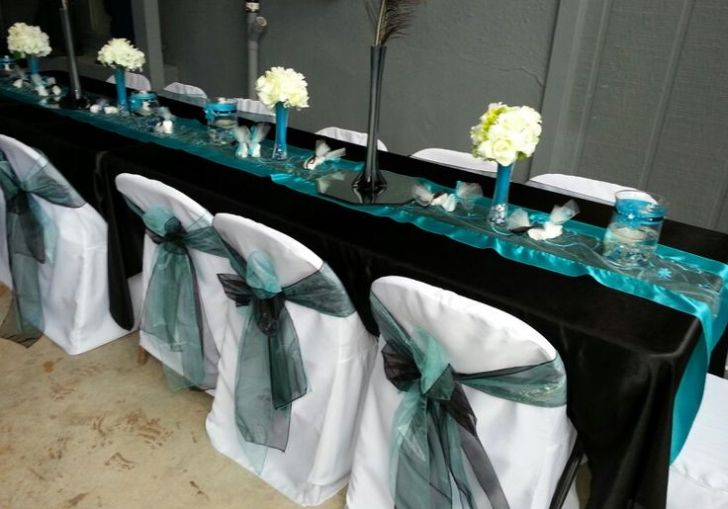 Black White And Royal Blue Wedding