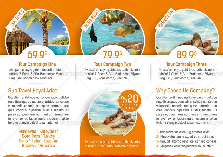 Tri Fold Brochure Template Travel Agency Trifold Tours