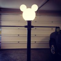 Disney lamp post. Easy to make!