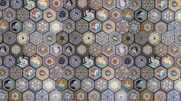 Hexagon floor reproduction as per Cappella Vaselli in the
