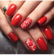 ideas red nail design