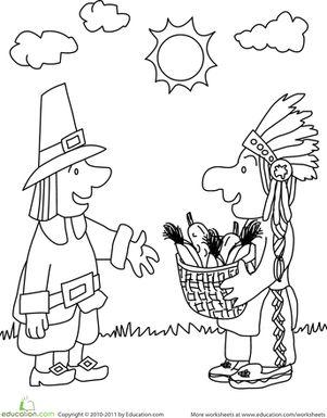 Thanksgiving Kindergarten Holiday Worksheets: First
