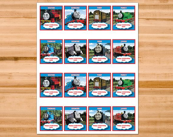 Printable Personalized Thomas And Friends Cupcake Toppers