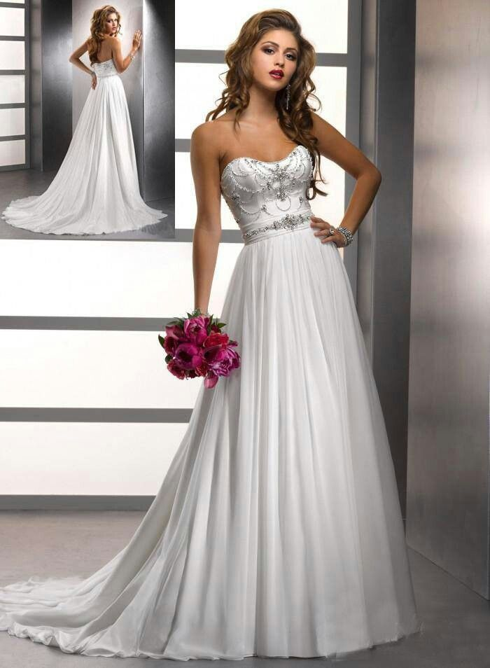 Beautiful Flowing Wedding Dress with beading  Black and