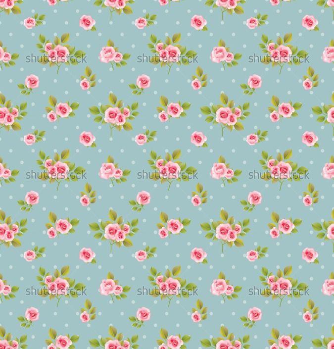 Shabby Chic Roses Background