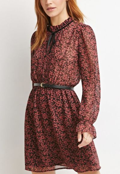 Floral Print High-Neck Dress £21 from Forever 21