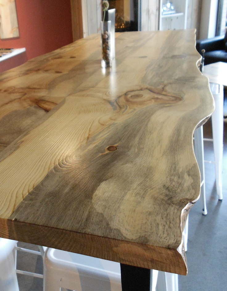 live edge kitchen table home depot lighting how about this live-edge table? is campground blue ...