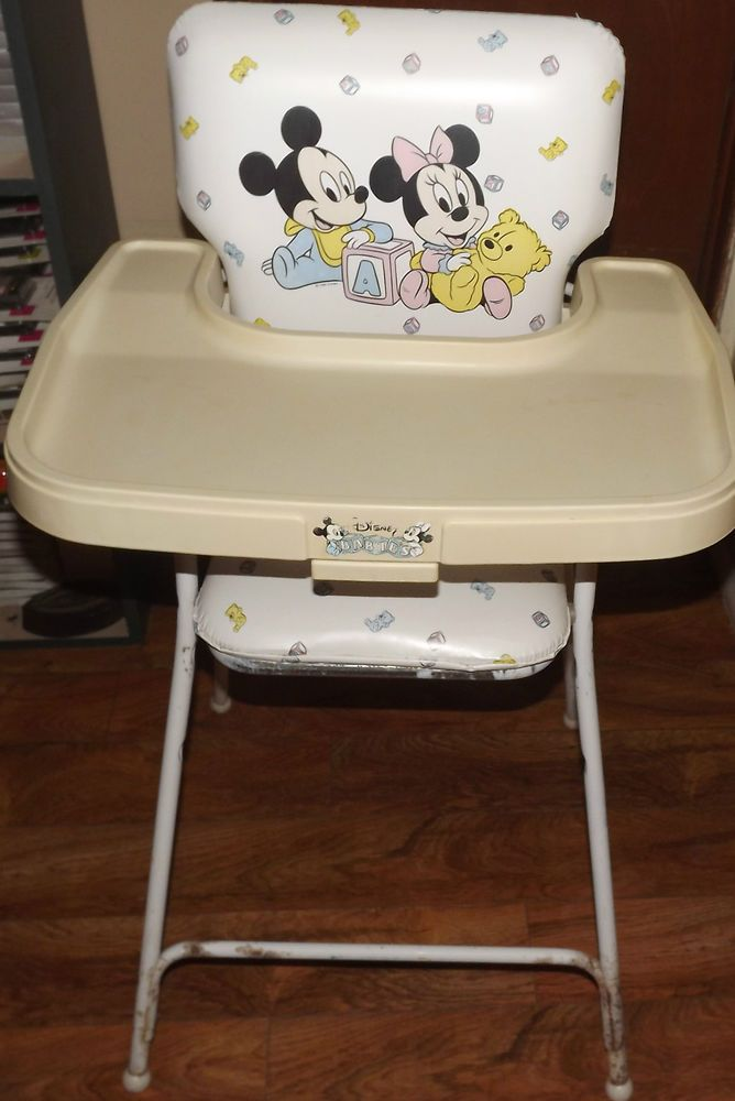 Rare vintage disney babies mickey mouse minnie mouse high