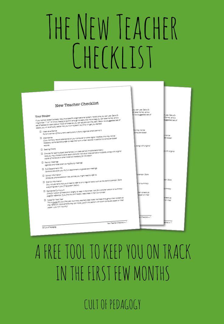 Best 25+ Teacher Checklist Ideas On Pinterest  Classroom Procedures, 1st Day Of School And