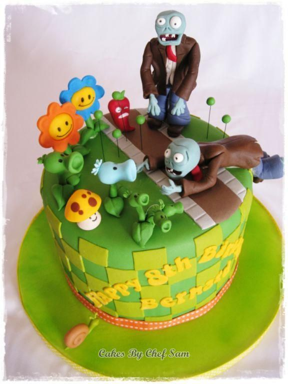Plants Vs Zombies Caketoo Cool Cake By Chef Sam