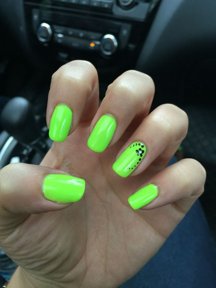 17 Best ideas about Lime Green Nails on Pinterest