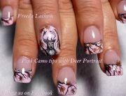 pink camo tips with deer portrait