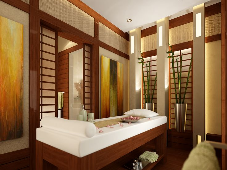 Asianinspired massage room idea  Spa Dcor  Pinterest