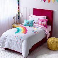 Adairs Kids Girls Rainbow & Sunshine - Bedroom Quilt ...