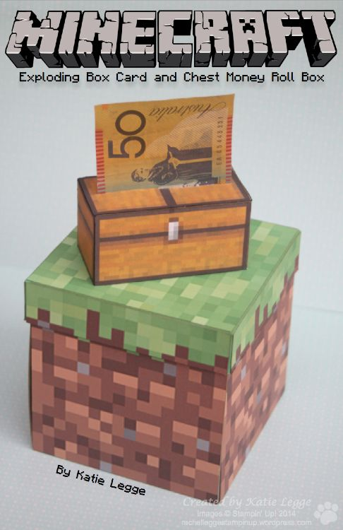 Minecraft Exploding Box Card Minecraft Money And