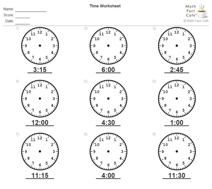 How about a little practice to work on telling time? Given