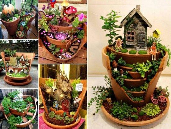 Broken Pot Fairy Garden Tutorial With Video Gardens Fairy Doors