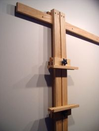 Close Up of Wall Easel Mast | #DIY Space Saver | Studio ...