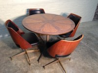 BRODY Mid-Century Modern Dining / Dinette Table With Four ...