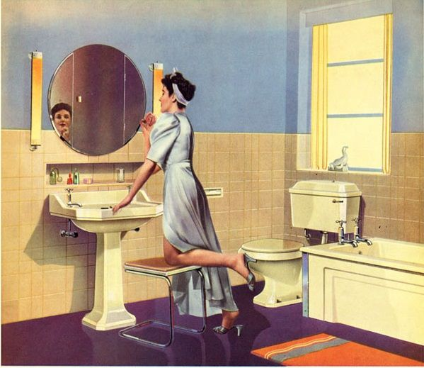 Pin By Nina On 1950s Bathroom Pinterest 1950s Vintage Interiors And 1950s Bathroom