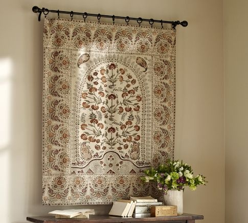 Terra Kalamkari Tapestry Pottery Barn This Would Look