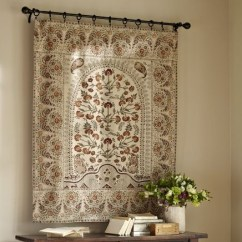 Living Room Curtain Ideas For Small Windows No Coffee Table Terra Kalamkari Tapestry | Pottery Barn-this Would Look ...