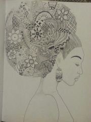 zentangle hair afro puff