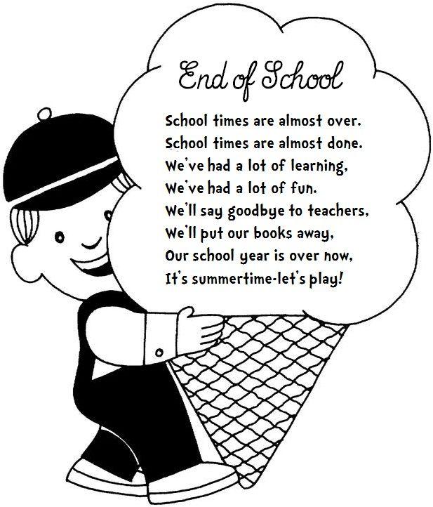 Enjoy Teaching English: END OF SCHOOL (poem
