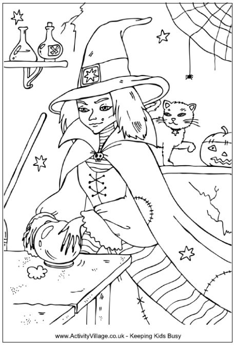 17 Best images about halloween colouring pages on
